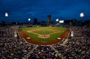 Parkview Field at night