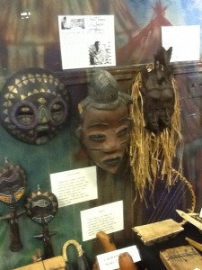 Displays reflect African culture at the museum.