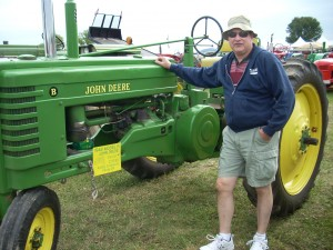 My husband enjoyed viewing tractors he had used while growing up on a farm.