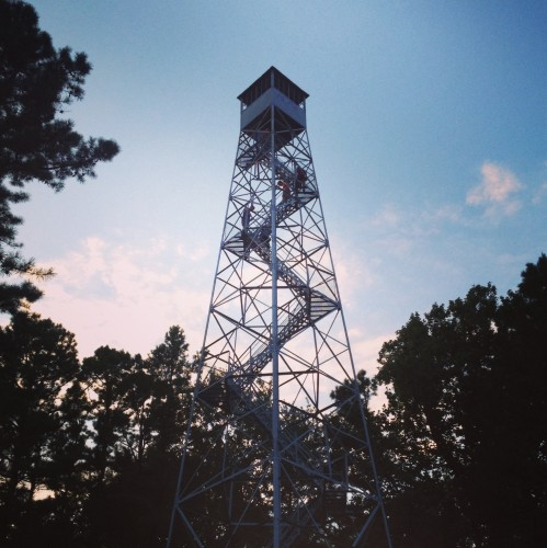 Hickory Ridge Fire Tower in the Hoosier National Forest