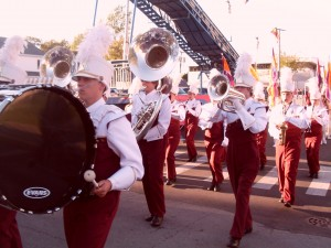 Bands compete for prizes at the fair's contest on Wednesday.