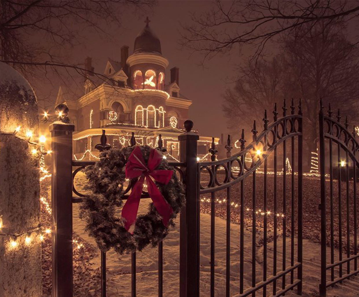 Christmas at the Seiberling Mansion in Kokomo