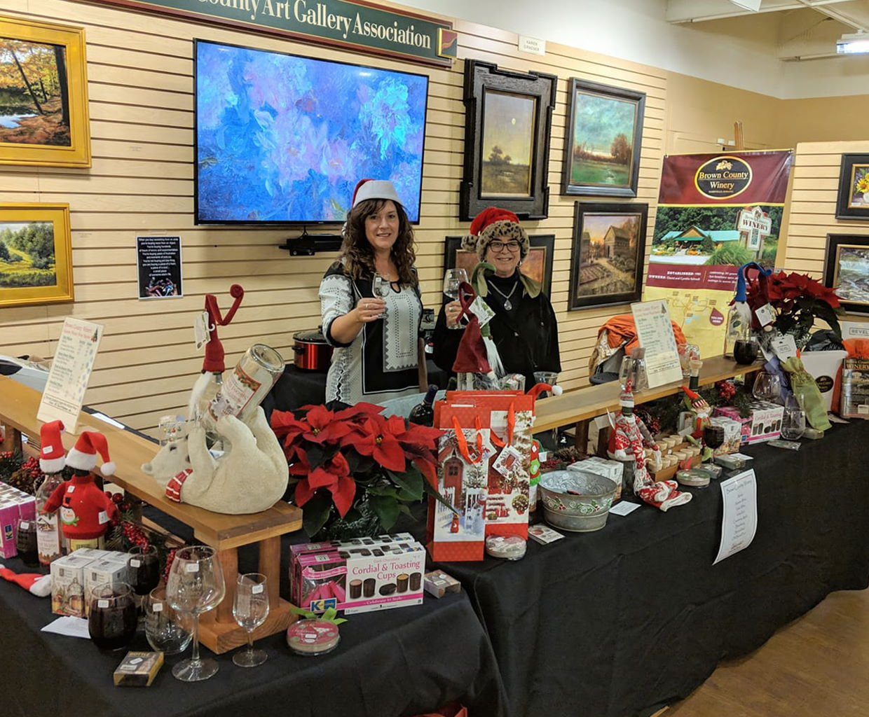 Uplands Winter Wine Market at the Brown County Art Gallery