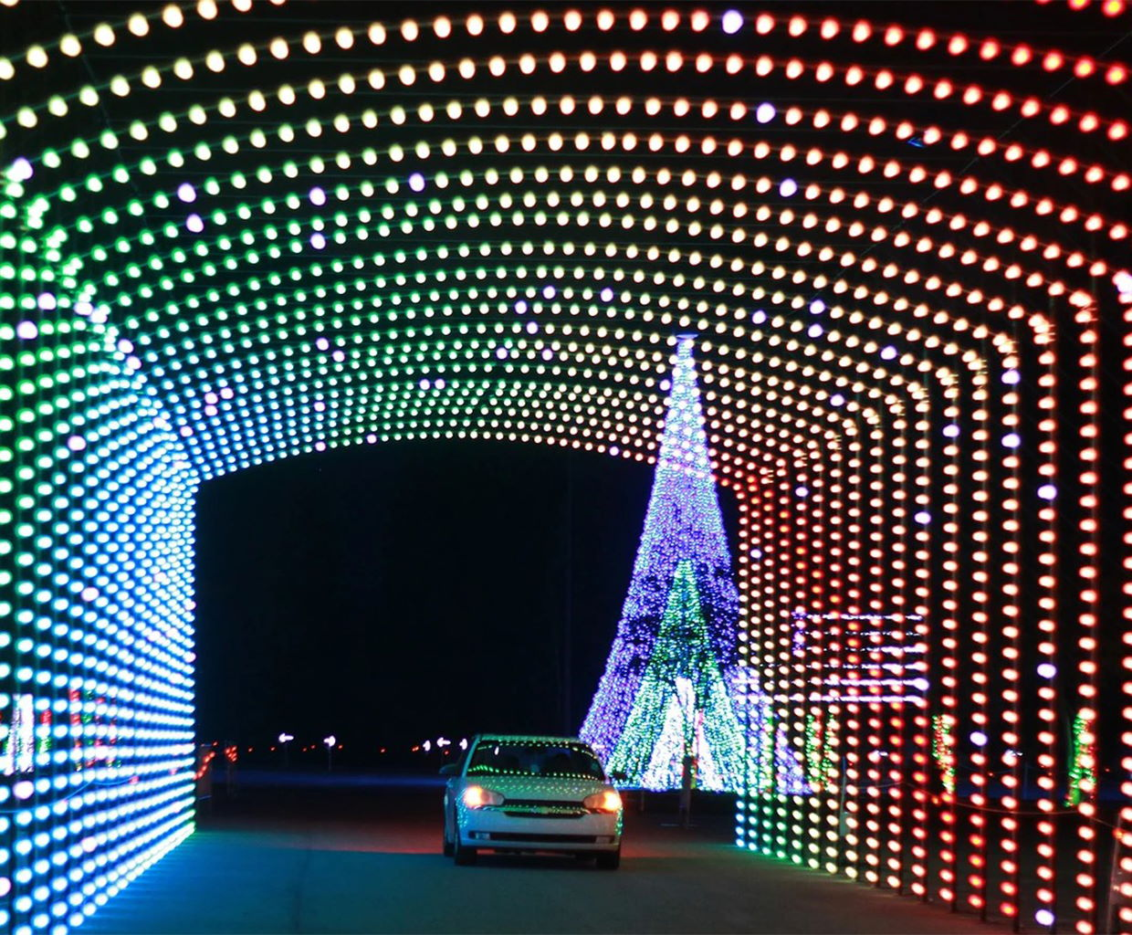 Christmas Night of Lights at the Indiana State Fairgrounds in Indianapolis