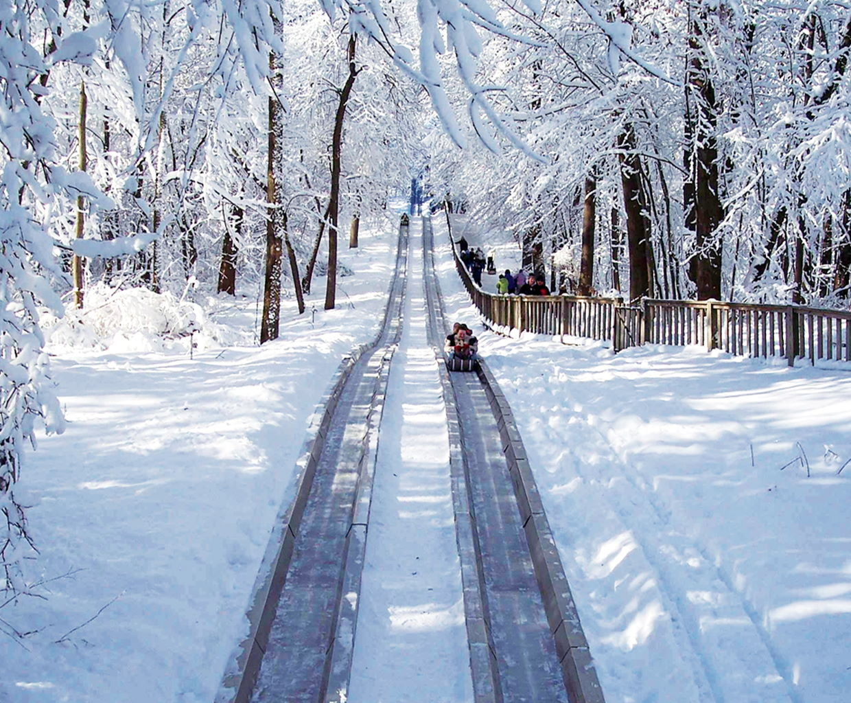 The toboggan run at Pokagon State Park